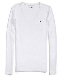 Tommy Hilfiger Long Sleeve Favorite V Neck Tee