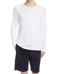 Vince Long Sleeve Linen T Shirt