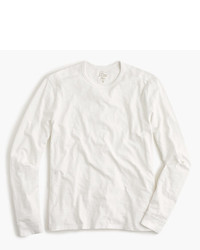 J.Crew Long Sleeve Textured Cotton T Shirt