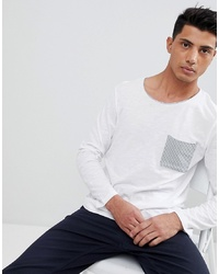 Tom Tailor Long Sleeve Top With Stripe Pocket