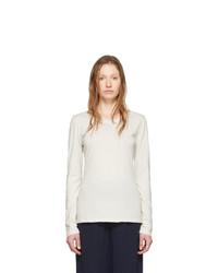 Raquel Allegra Off White Ballet Long Sleeve T Shirt