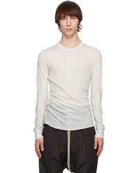 Rick Owens Off White Basic Long Sleeve T Shirt