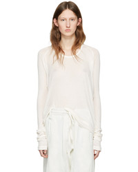 Haider Ackermann Off White Long Sleeve T Shirt