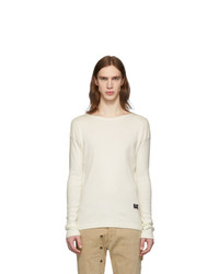 Greg Lauren Off White Paul And Shark Edition Rib Knit T Shirt
