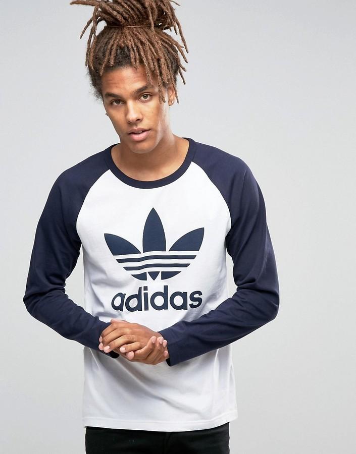 adidas trefoil long sleeve t shirt