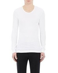 Dolce & Gabbana Rib Knit Long Sleeve T Shirt White