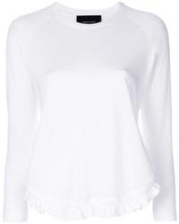 Simone Rocha Ruffle Detail Long Sleeve T Shirt