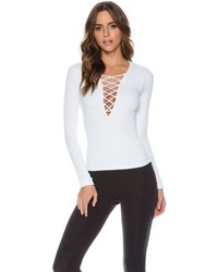 Free People Seamless Lace Up Top