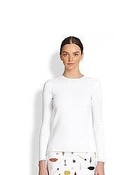Stella McCartney Basic Long Sleeve Top Optical White