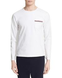 Thom Browne Distressed Long Sleeve Pocket T Shirt