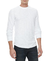 Vince Thermal Long Sleeve Tee White