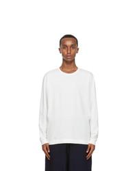 Issey Miyake Men White Cotton Long Sleeve T Shirt