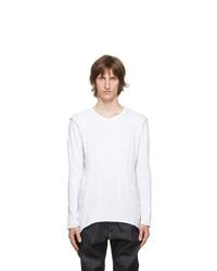 Sulvam White Darts Long Sleeve T Shirt