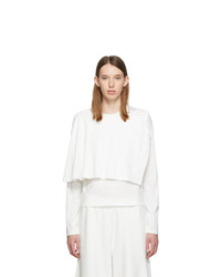 MM6 MAISON MARGIELA White Double Layer Long Sleeve T Shirt
