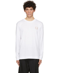 Fendi White Forever Long Sleeve T Shirt