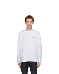 MAISON KITSUNÉ White Fox Head Regular Long Sleeve T Shirt