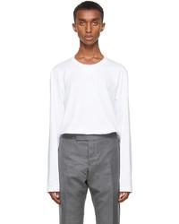 Thom Browne White Gusset Rwb Tipping Stripe Long Sleeve T Shirt