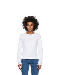 RE/DONE White Heritage Long Sleeve T Shirt