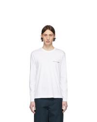 Comme Des Garcons SHIRT White Logo Long Sleeve T Shirt