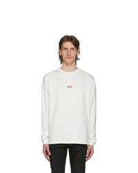 424 White Logo Long Sleeve T Shirt