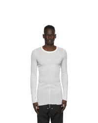 Rick Owens White Long Sleeve T Shirt