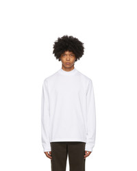 Acne Studios White Mock Neck Long Sleeve T Shirt