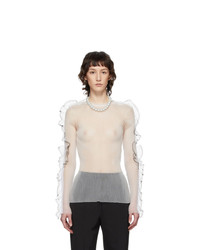 Noir Kei Ninomiya White Monofilat Long Sleeve T Shirt