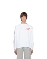 Aries White New Balance Edition Logo Long Sleeve T Shirt