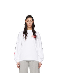 ARIES White New Balance Edition Long Sleeve T Shirt
