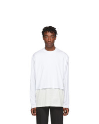 Givenchy White Overlay Long Sleeve T Shirt