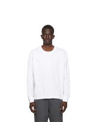 Thom Browne White Oversized Long Sleeve T Shirt