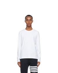 Thom Browne White Relaxed Fit Long Sleeve T Shirt