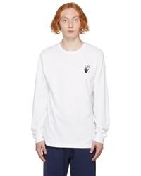 Off-White White Slim Degrade Arrow Long Sleeve T Shirt