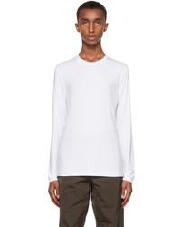 Giorgio Armani White Stretch Bamboo Viscose Jersey T Shirt