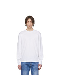 DSQUARED2 White Stud Fit Long Sleeve T Shirt