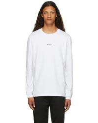 BOSS White Tchark 1 Long Sleeve T Shirt