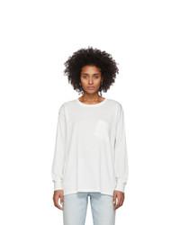 alexanderwang.t White Tilted Pocket Long Sleeve T Shirt