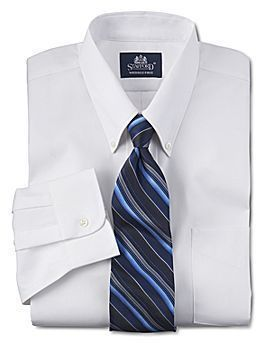 Jcpenney stafford performance pinpoint oxford dress shirt for Pinpoint button down dress shirt