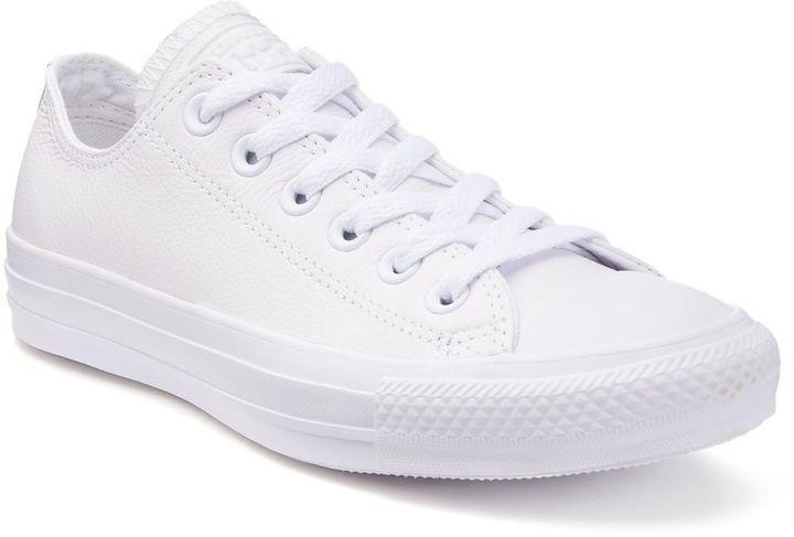 converse blancas leather