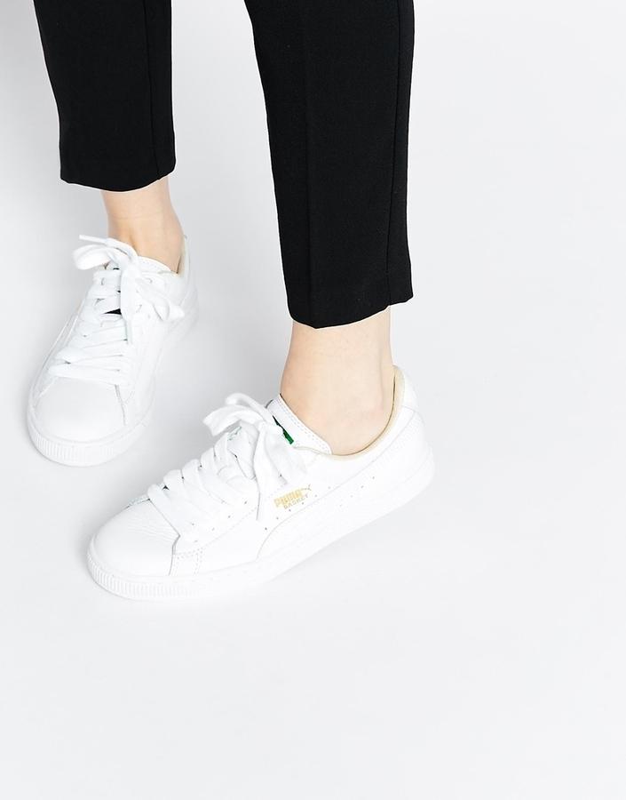 0b07dc5caf0 ... Puma Basket Classic White Sneakers ...