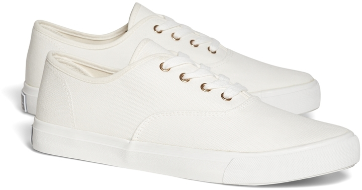 6391eb03bef3a ... Brooks Brothers Canvas Sneakers ...