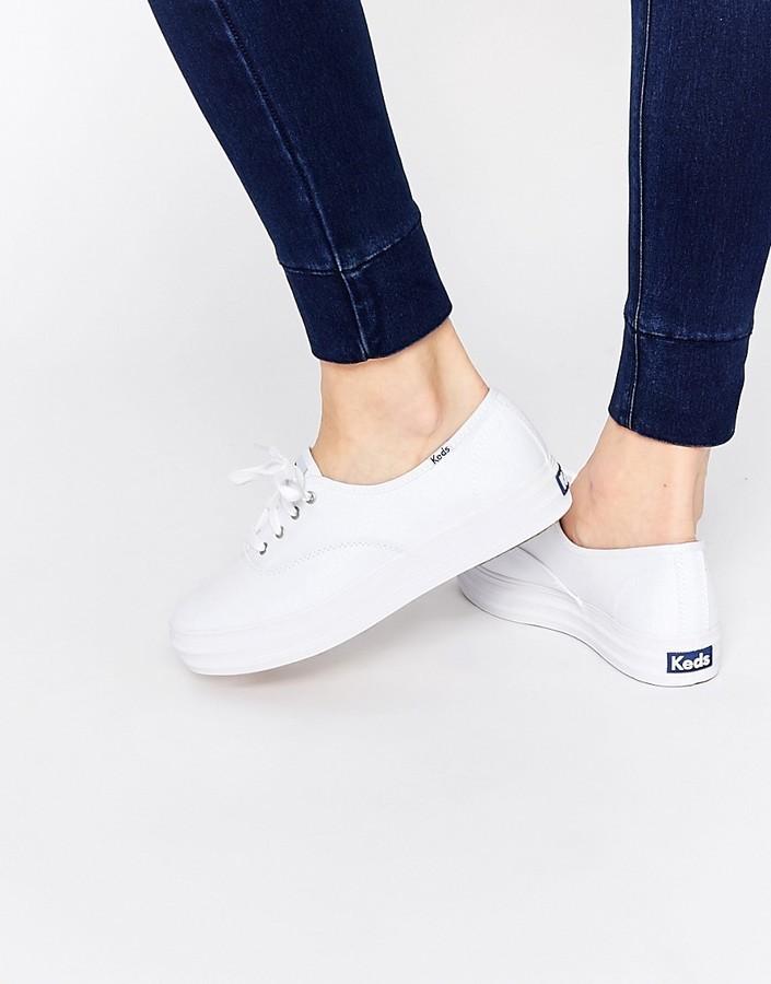 88725562cb10 ... Keds Champion Triple White Core Sneakers ...