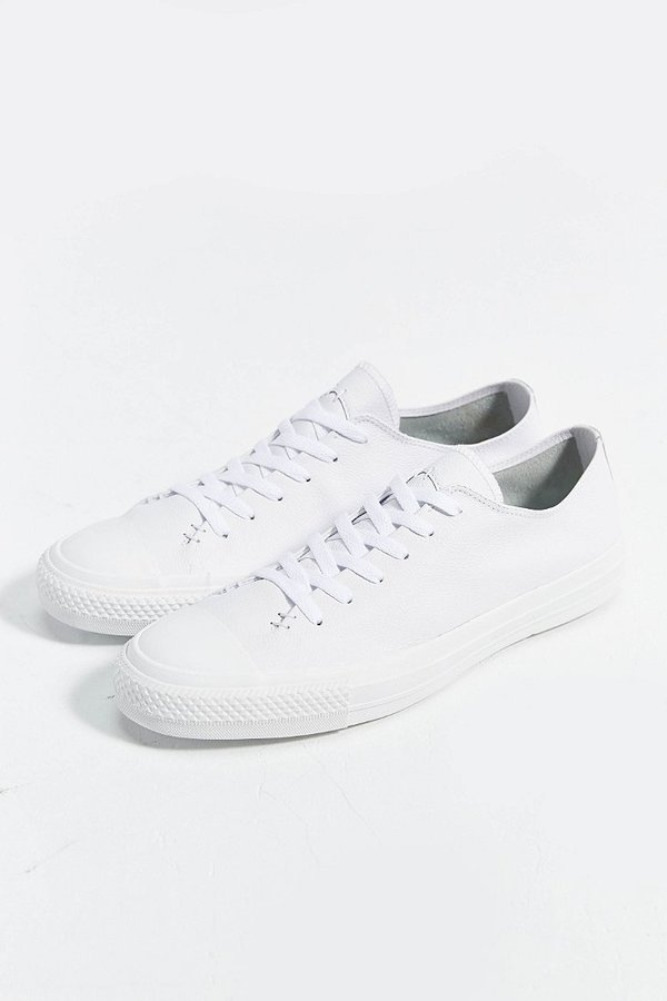 929ef5ff2a6 ... White Low Top Sneakers Converse Chuck Taylor All Star Sawyer Leather Low  Top Sneaker ...