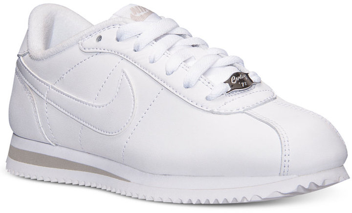 brand new 2718b aa016 ... shoes 49f62 d8be8 shopping nike cortez basic leather casual sneakers  from finish line 10141 27b80 ...