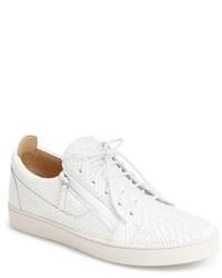 Giuseppe Zanotti Croc Embossed Side Zip Sneaker