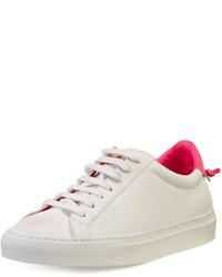 Givenchy Devon Leather Low Top Sneaker Whitefuchsia