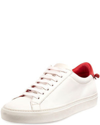Givenchy Urban Street Leather Low Top Sneaker Whitered