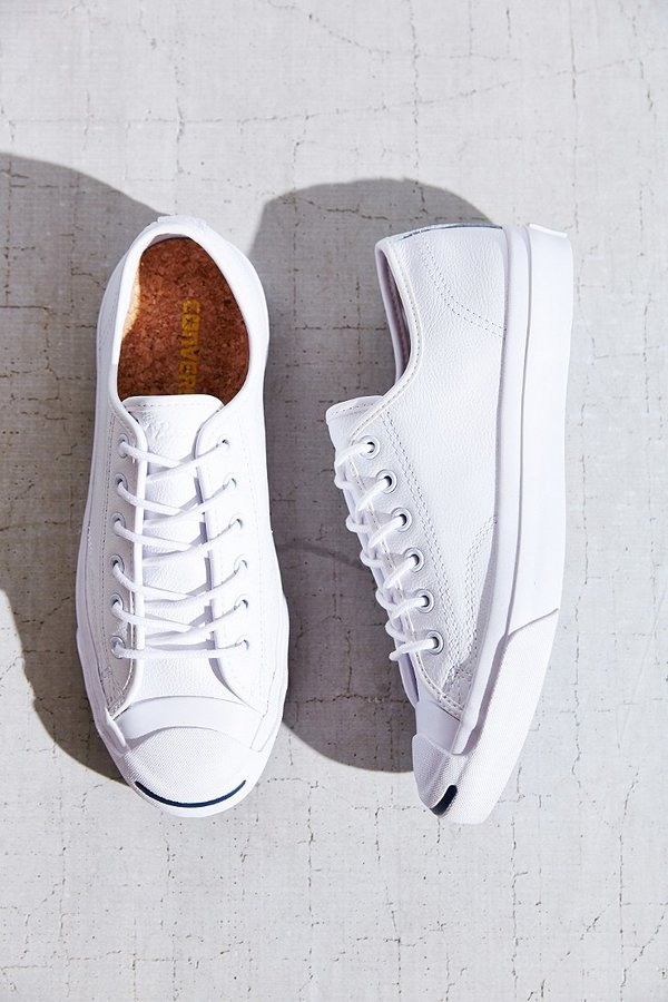 8942b7c3e5b6 ... Converse Jack Purcell Tumbled Leather Low Top Sneaker ...