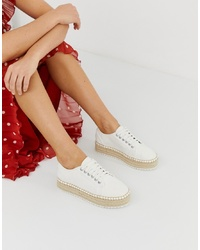 ASOS DESIGN Jakie Lace Up Espadrille Trainers