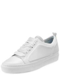 Lanvin Leather Low Top Sneaker White